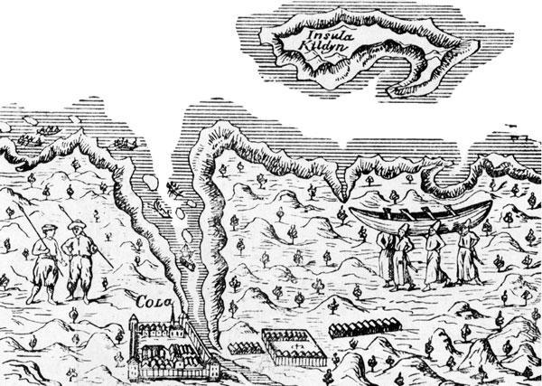 Схема Кольского залива и